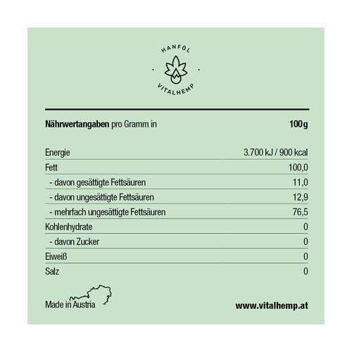CBD-Öl 5% (30ml) in Bio-Hanföl