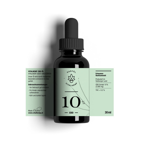 CBD-Öl 10% (30ml) in Bio-Hanföl